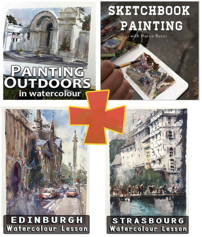 Full Watercolour Painting Package Workshop - Marco Bucci Art Store