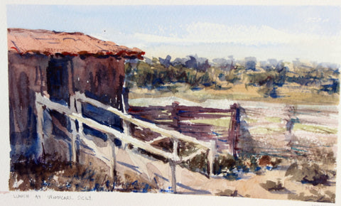 SOLD - Beach Lookout - watercolour Painting - Marco Bucci Art Store