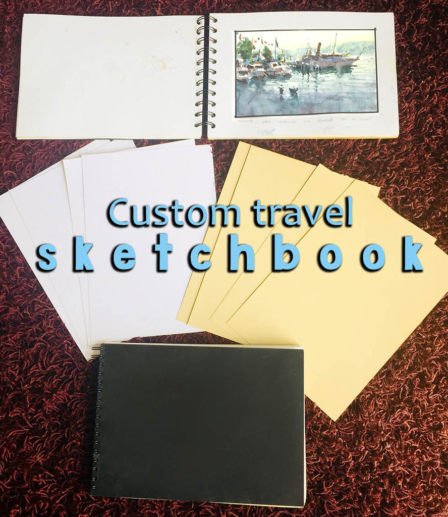 Custom Travel Sketchbook Book - Marco Bucci Art Store