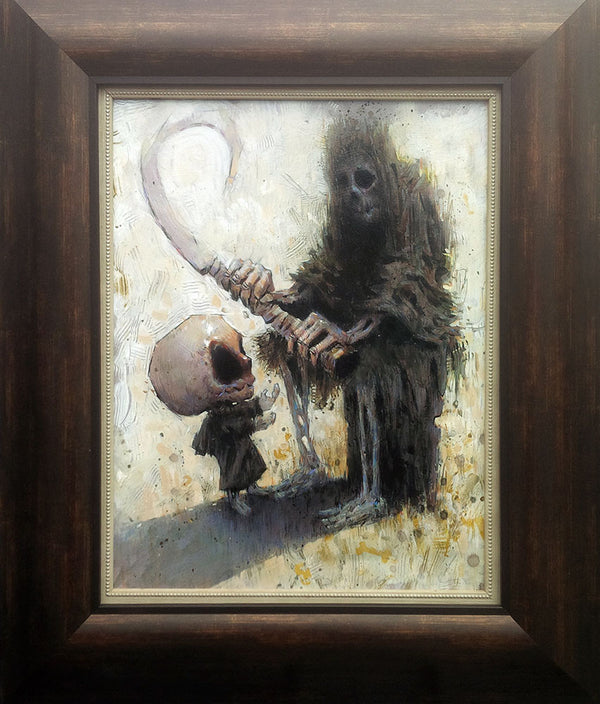 """Father's Footsteps"" - Acrylic on Board, 14x18"", Framed Painting - Marco Bucci Art Store"