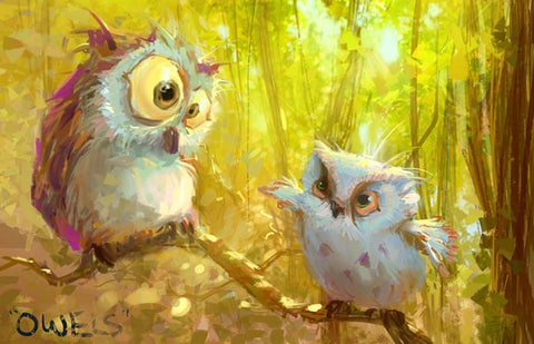 Owls, Marco Bucci Art Collection