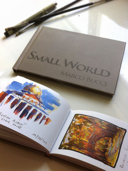 Small World - Collection of Travel Sketches and Paintings Book - Marco Bucci Art Store