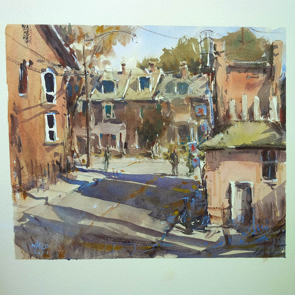SOLD - West End Street Painting - Marco Bucci Art Store