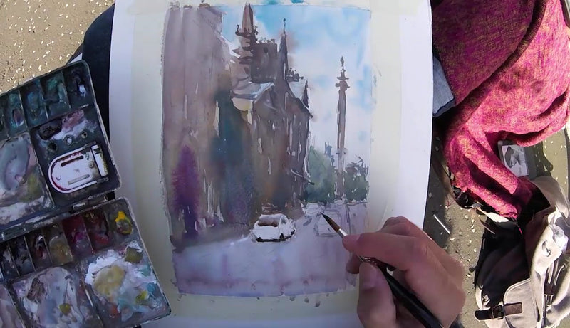Edinburgh: Watercolour Lesson Workshop - Marco Bucci Art Store