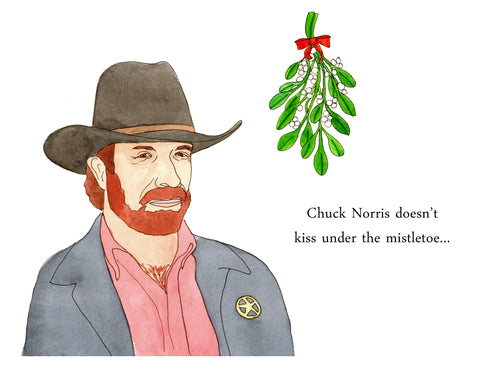 Chuck Norris Christmas Cards - Set of 5