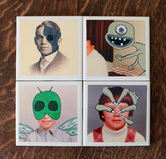 Coaster Set of 4 - The Fellas