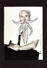 Altered Vintage Photograph-Amazing Mustache