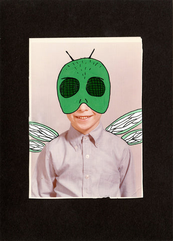 Altered Vintage Photograph-Flyboy