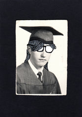 Altered Vintage Photograph- Radical Dude
