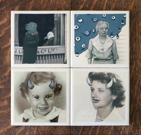 Coaster Set of 4 - The Ladies