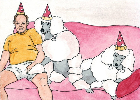 Poodle Party Print