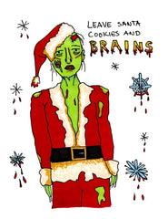 Zombie Christmas Cards - Set of 5