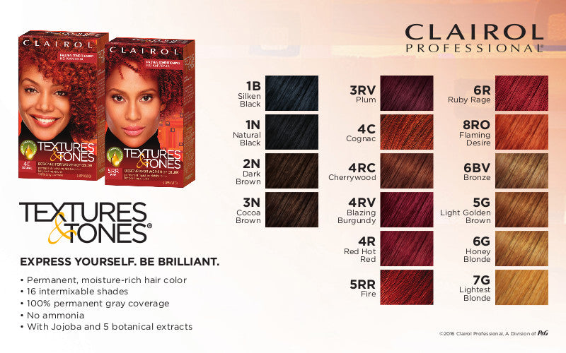 Textures Tones Permanent Hair Color Chart Beautiful Black Hair