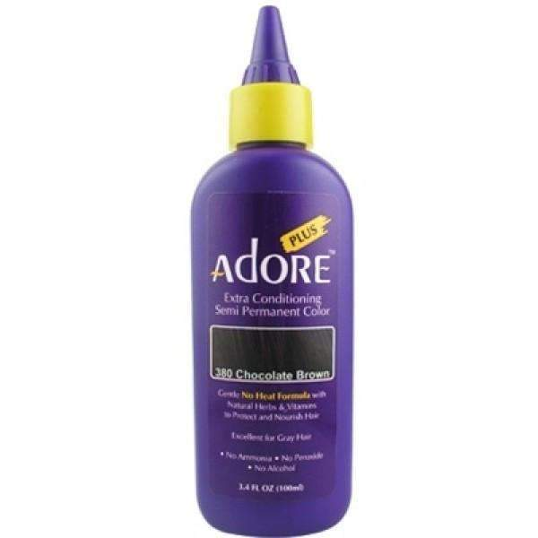 Adore Plus Hair Color For Gray Hair - 380 Chocolate Brown