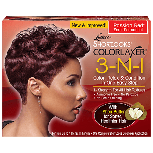 Pink Shortlooks Colorlaxer 3-in-1 Relaxer Kit - Passion Red