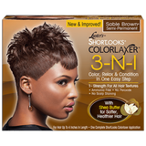 Pink Shortlooks Colorlaxer 3-in-1 Relaxer Kit - Sable Brown