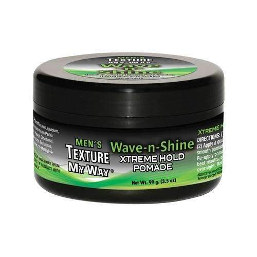 Texture My Way Men's Wave-n-Shine Xtreme Hold Pomade