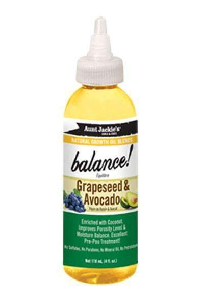 "Aunt Jackie's ""Balance"" Grape Seed & Avocado Growth Oil"