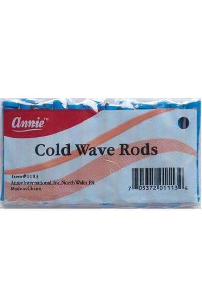 "Annie Cold Wave Rods 1/4"" Short #1113 Blue"