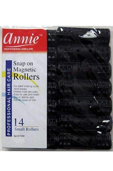 "Annie Snap On Magnetic Rollers 1/2"" Small Black #1234"