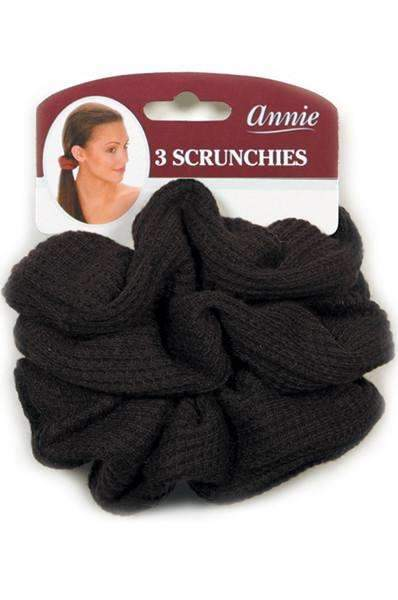 Annie Hair Scrunchies Black 3 Pieces #3373