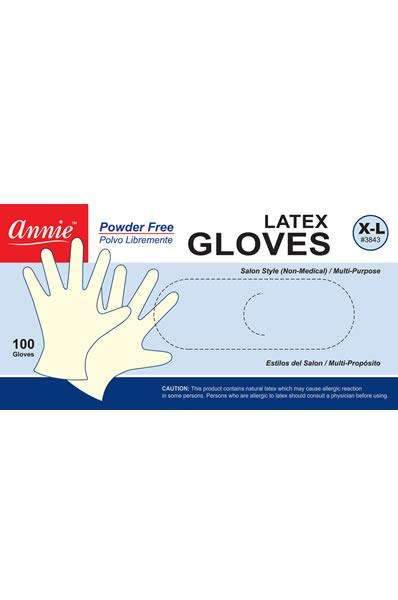 Annie Latex Gloves - Powder Free Extra Large #3843