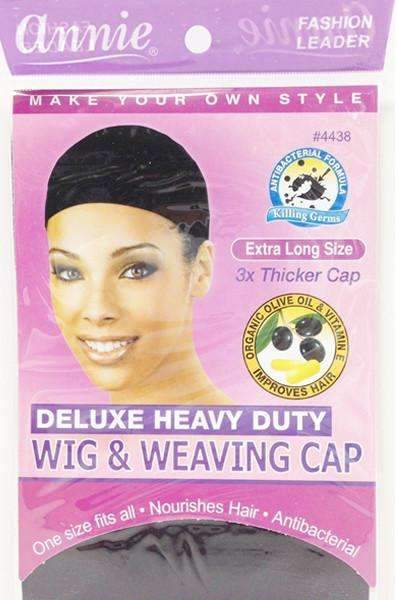 Annie Wig & Weaving Cap Black Extra-Long #4438