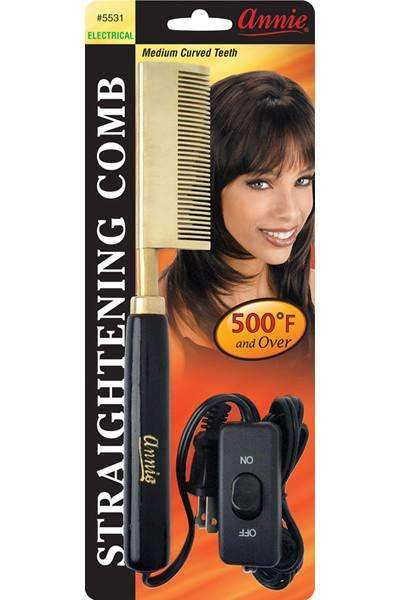Annie Straightening Comb Curved Teeth #5531