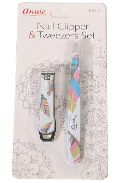 Annie Nail Clipper & Tweezers Set Assorted #6218