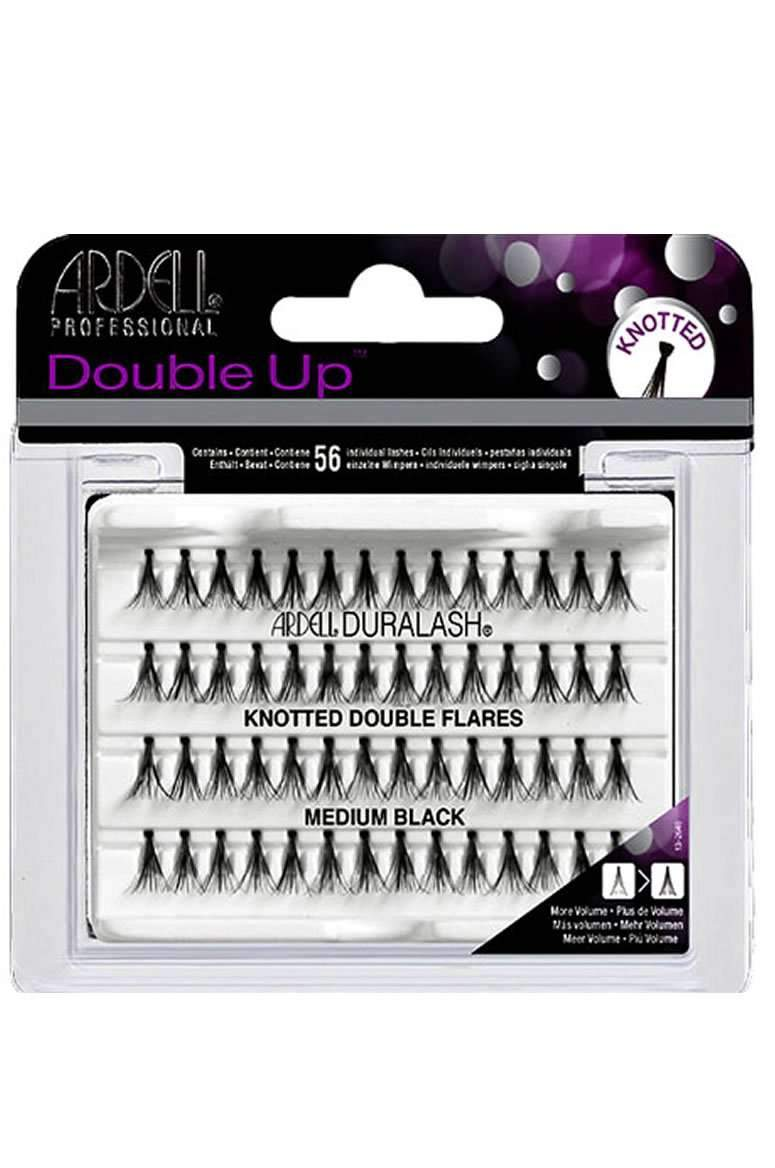 Ardell Double Up Individual Lashes - Knotted Double Flares Medium Black