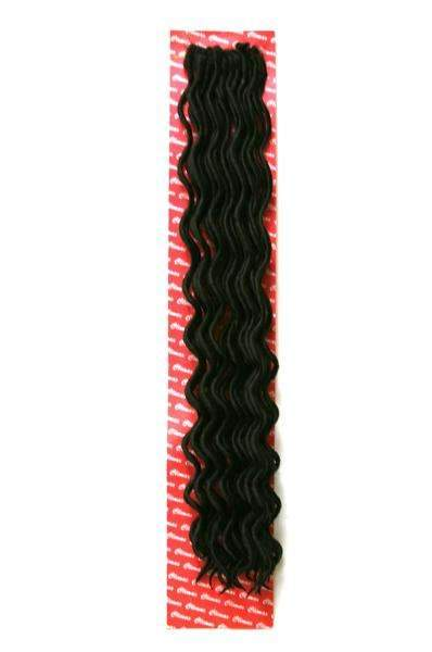 Climax Synthetic Crochet Braid Wavy Faux Locs 18""