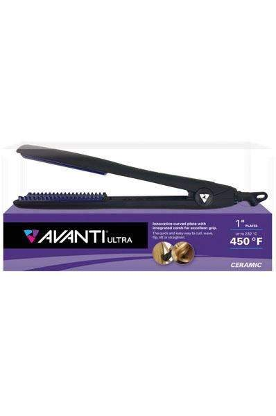"Avanti Ultra 1"" Multi Purpose Ceramic Flat Ironw/Integrated Comb"