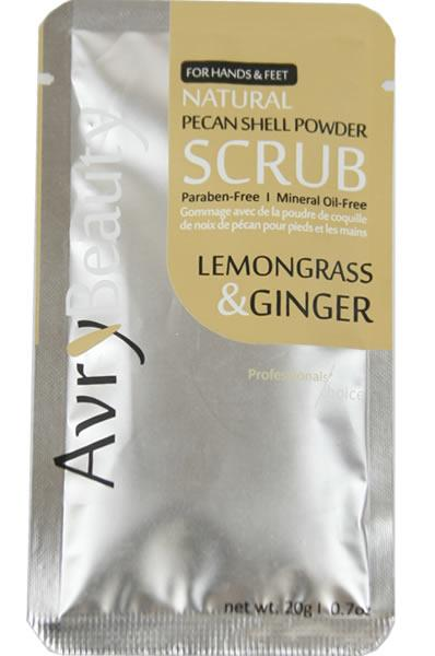 Avry Beauty Natural Mani/Pedi Scrub - Lemongrass & Ginger