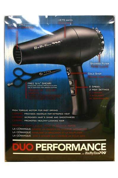 BaByliss Pro Performance Duo1875W w/Free Professional Shears