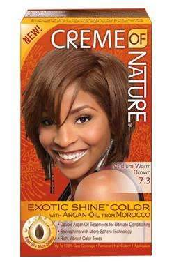 Creme Of Nature Exotic Shine Color- #7.3 Medium Warm Brown