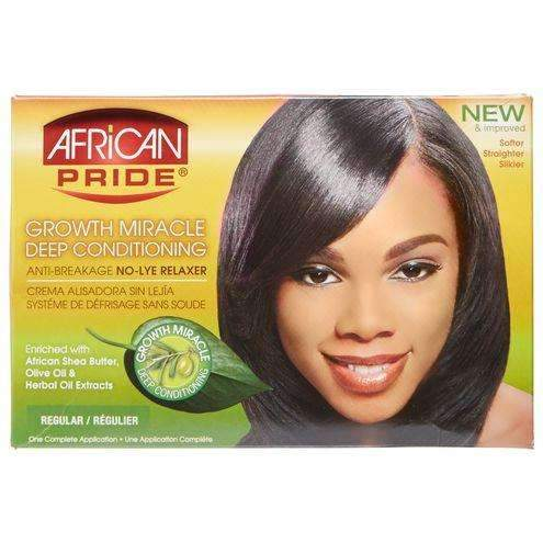 African Pride Olive Miracle No Lye Relaxer Kit - Regular