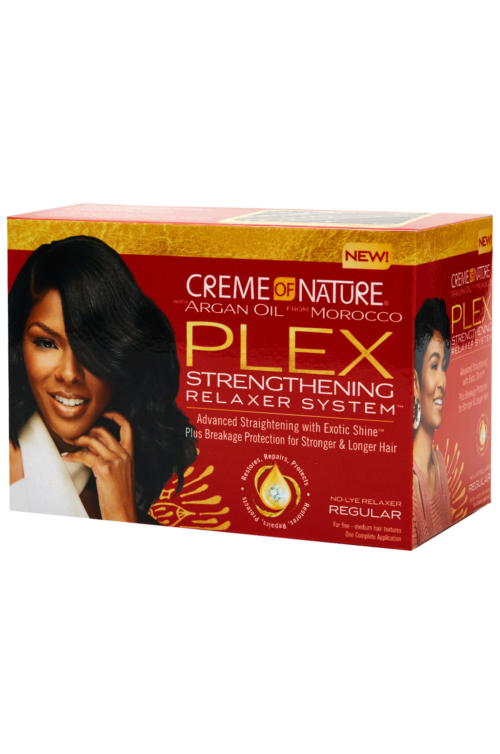 Crème Of Nature Argan Oil PLEX Strengthening Relaxer System - Regular