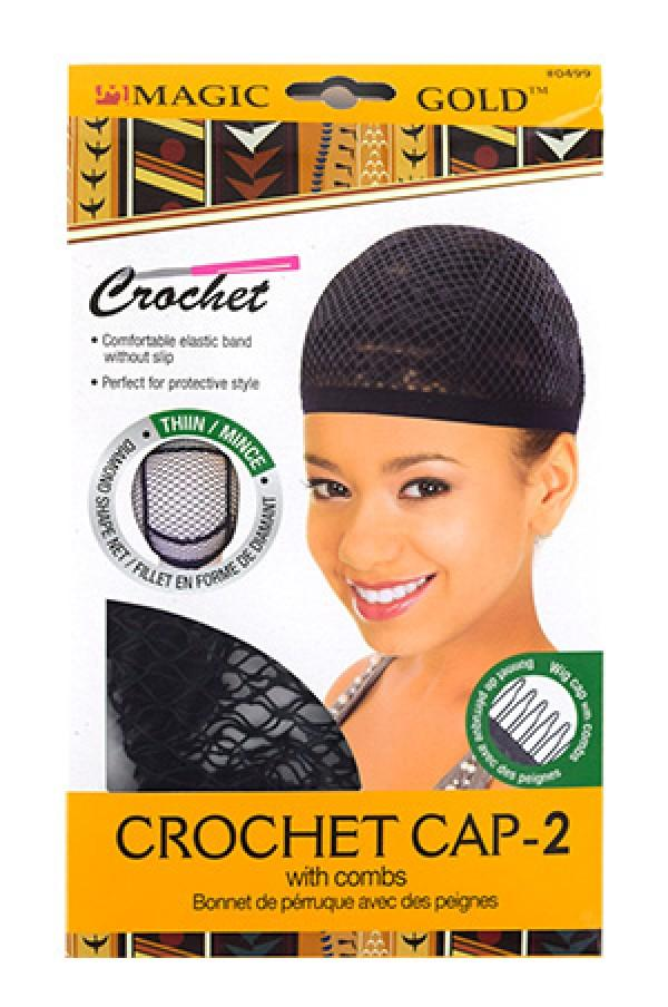 Magic Gold Thin Crochet Cap