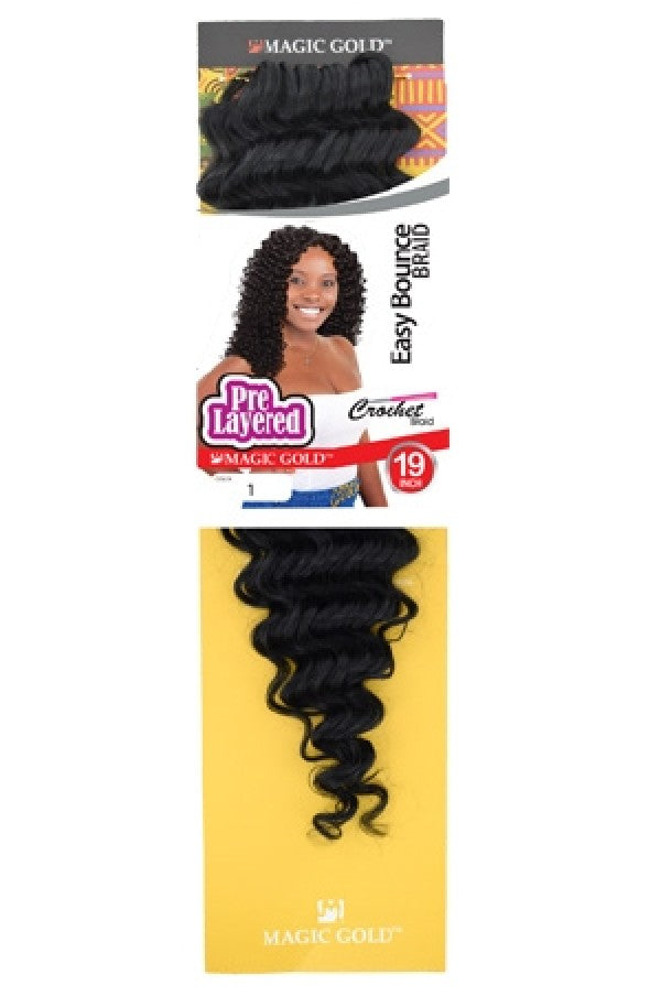 Magic Gold Pre Layered Crochet Braid Easy Bounce Braid 19""