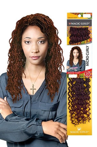 Magic Gold Synthetic Crochet Braid Micro Curly 20""