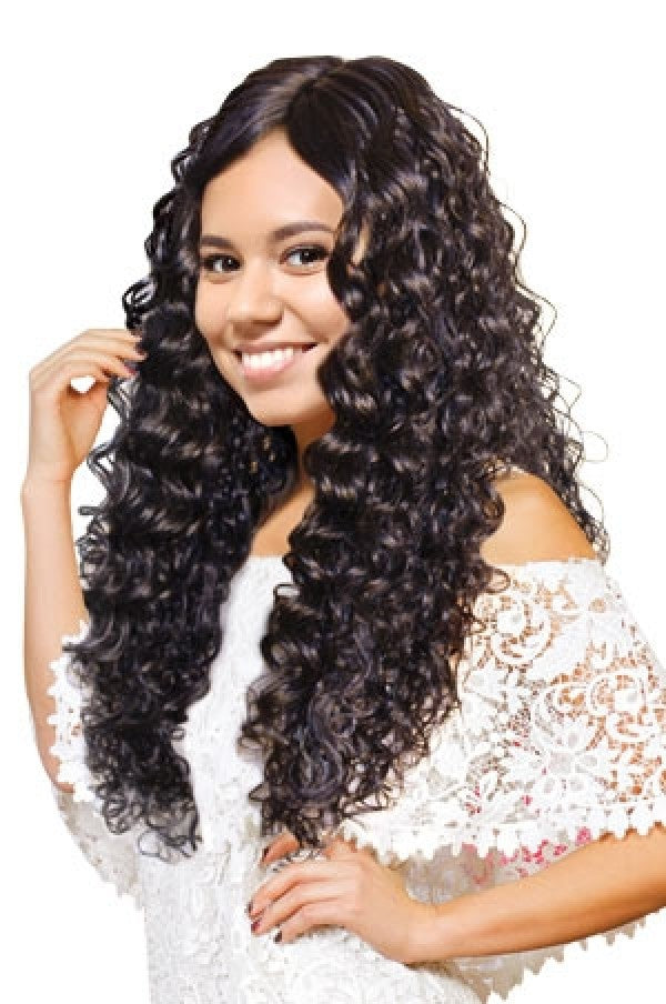 Climax Synthetic Lace Front Side Part Wig Aberewa