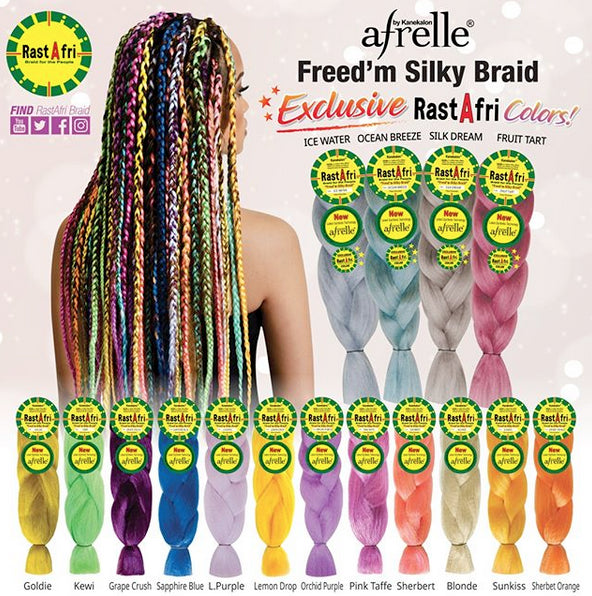 New Rasta Afri Freed'm Silky Jumbo Braid Colours