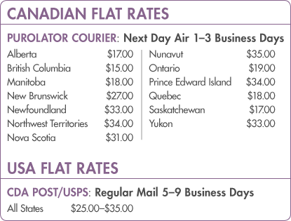 Canadian and USA Shipping Rates