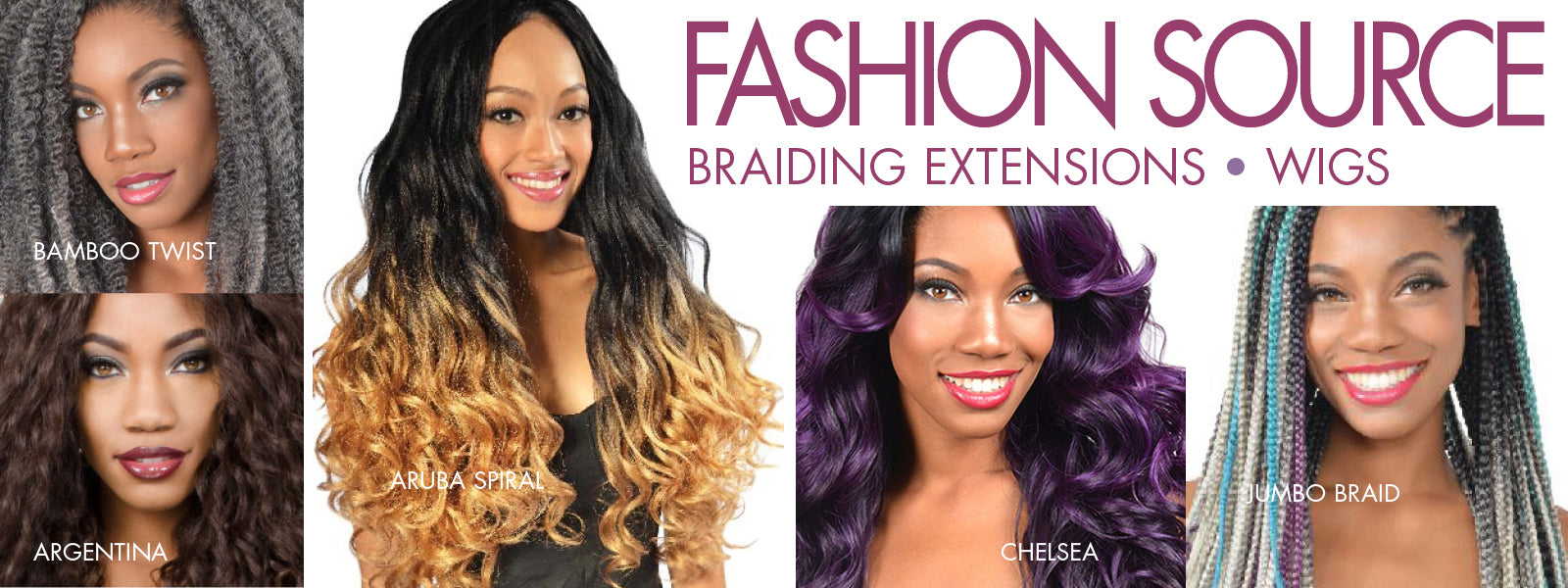 Fashion Source Braiding Extensions and Wigs available at Abantu