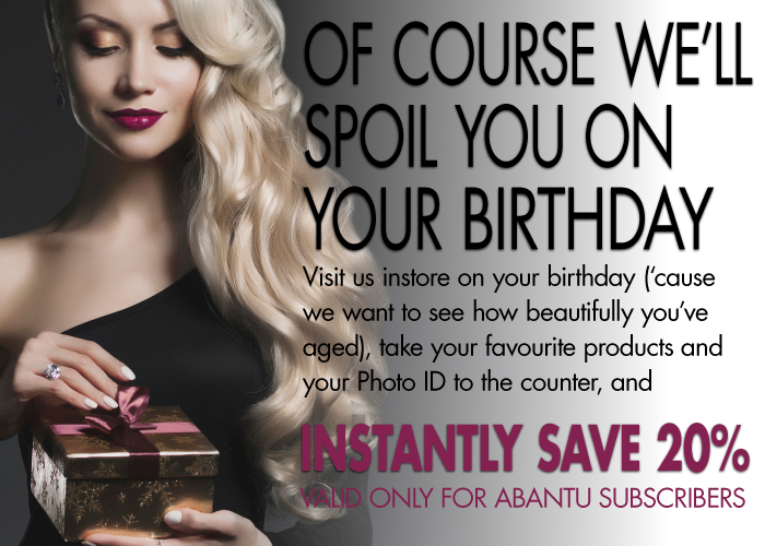 Instantly save 20% at Abantu on your birthday