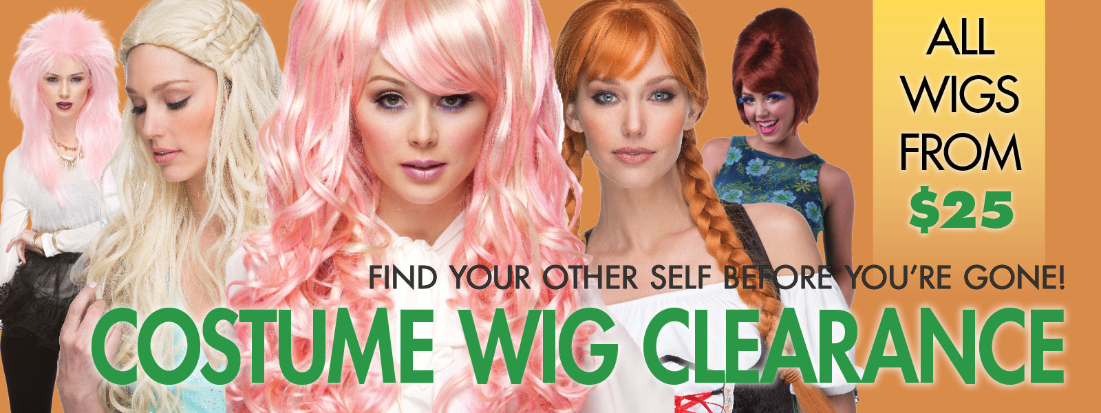 Costume Wig Clearance at Abantu - Wigs from $25