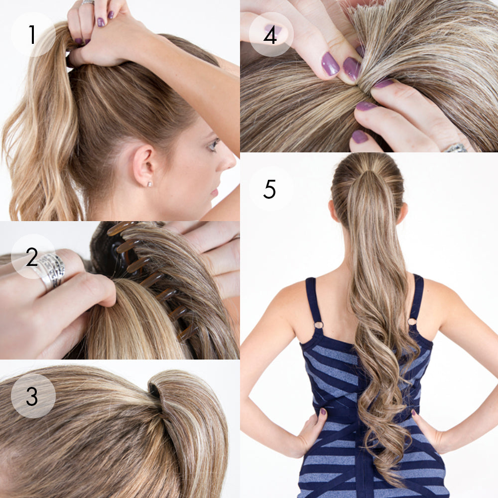 "Hair Couture Avanti Pony Clip Body Wave 22"" Ponytail STEP-BY-STEP"