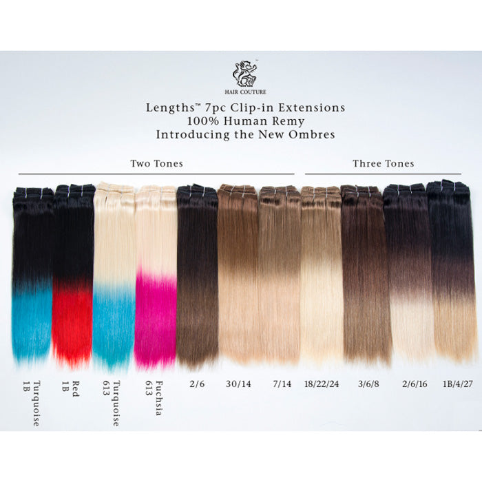 "Hair Couture Lengths 7pc Clip-in Remy 18"" Extensions"
