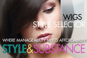 Select from hundreds of wigs by style and colour