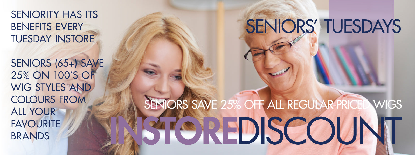 Seniors save 25% every Tuesday instore at Abantu